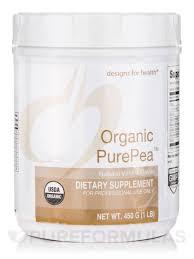 Designs For Health Pea Protein Unflavored Organic Purepea Natural Vanilla Flavor 1 Lb 450 Grams