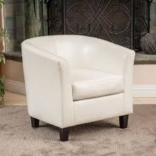 Preston Bonded Leather Ivory Club Chair by Christopher Knight Home - Free  Shipping Today - Overstock.com - 13431581