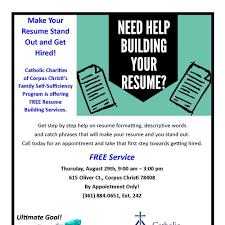 Resume Building Services Resume Building Services Catholic Charities Corpus