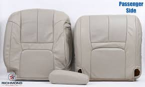 details about 99 00 cadillac escalade passenger complete replacement leather seat covers tan