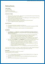 Sample Banking Resumes Sample Resume For Bank Job Sample Banking