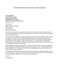 Financial Cover Letters Cute Cover Letter For Policy Analyst