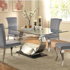coaster furniture dining set contemporary gl table value city