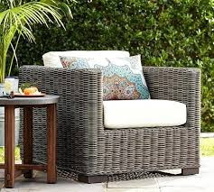 all weather wicker square arm occasional chair gray inside pottery barn outdoor furniture decor reviews furnit