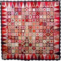 Block of the Month BOM Quilt Program & Red Dear Jane quilt Adamdwight.com