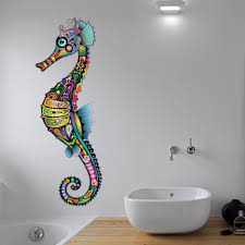 the little unique boutique seahorse wall art on seahorse wall art for bathroom with best sea underwater wall stickers for your home the mermaids home