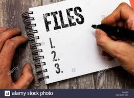 Text Sign Showing Files Conceptual Photo Folder Box For Holding