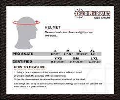 Army Helmet Size Chart Size Charts 187 Killer Pads