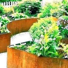 galvanized steel planter boxes garden beds safe raised corrugated metal planters wood and