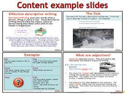GCSE English (9-1) Writing Fiction - Descriptive Writing ...