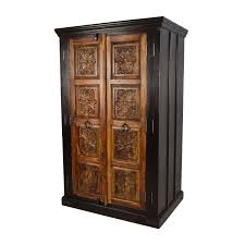 large carved wooden armoire wardrobes armoires