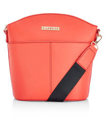 caprese orange faux leather sling bag caprese orange faux leather sling bag at best s in india on snapdeal