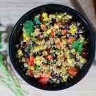 black bean  couscous and tuna salad