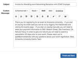 Send Invoices How To Send Invoices And Record Charges For An Event Handshake 14