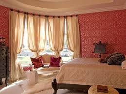 Red Wallpaper For Bedroom Designing The Bedroom As A Couple Hgtvs Decorating Design
