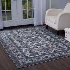 bazaar elegance gray blue 5 ft x 7 ft indoor area rug