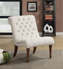 coaster linen sleek accent chair white  walmartcom