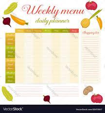 Weekly Menu Cute Vintage Daily Planner