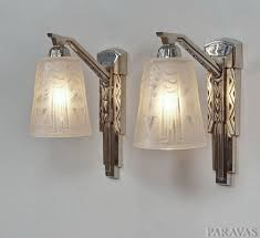 muller freres pair of french 1930 art deco wall sconces these stunning wall lights