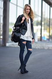 black leather jackets street style 5
