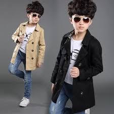whole boy trench coat new 2016 long sleeve outerwear kids windbreaker boys children trench coat black and khaki outerwear 4 16y trench coats for boys