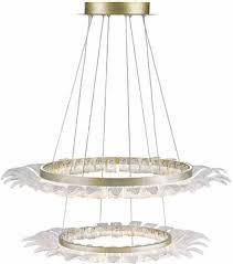 golden lighting chandelier. Golden Lighting C350-SM-WG Halo Contemporary White Gold LED Chandelier