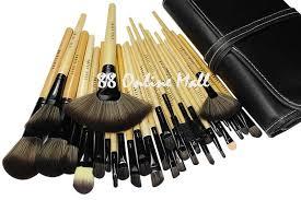 32pcs bobbi brown professional makeup brush set with pouch