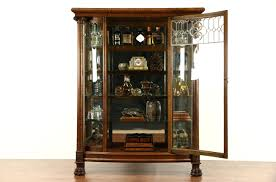 antique curio cabinets ry cabinet lock curved glass value