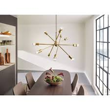 kichler dining room lighting armstrong. Fine Room Kichler Lighting Armstrong Collection 10light Natural Brass Chandelier In Dining Room R