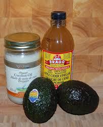 diy natural beauty coconut oil apple cider vinegar and avocado plus a homemade tend skin recipe