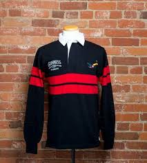 guinness long sleeved rugby shirts black red g2005