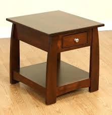 amish end table made solid wood occasional