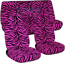 pink zebra car seat covers