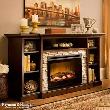 if you love a fire s cozy ambiance but not the hassling prep work try this merrick 65 tv console with 25 electric fireplace to warm up your living space