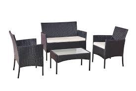4pc rattan garden furniture set deal