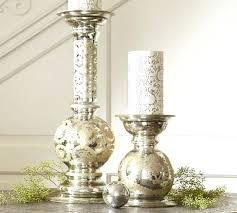 pottery barn mercury glass pendant light washed vase bud