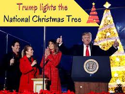 Light Tree Ppt Ppt Donald Trump And Melania Light The National Christmas