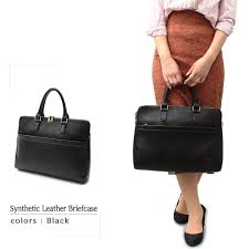 black dark brown camel pu leather for the business trip to business bag briefcase lady s bag