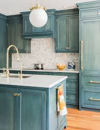 beautiful blue glazed cabinets