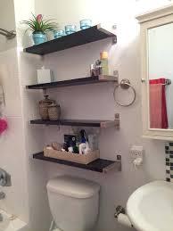 photo 2 of 9 bathroom shelves over toilet shelf ideas