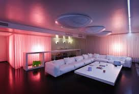 interior lighting. Interior Lighting Design For Luxurious Modern Residence : With Colorful LED Fixtures C