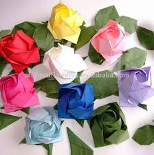 Paper Flower Folding Paper Folding Flowers Rose Flower Head Buy Paper Flower Head Paper Flower Paper Rose Flower Product On Alibaba Com