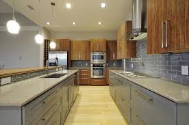 Bamboo/Paint Mix contemporary-kitchen