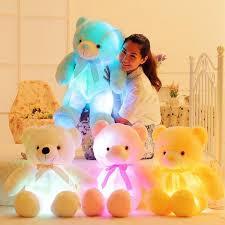 <b>Hot sale Cotton</b> LED Teddy Bear Stuffed Plush Toy children ...