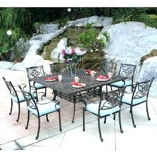 8 person patio table round outdoor dining for inspirational design 6 set tabl