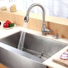kraus farmhouse sink stainless steel 3 4 single basin gauge stainless steel kitchen sink for farmhouse installations with a front basin rack and kraus