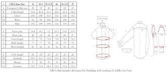 Mens Shirt Sizes Uk Chart Rldm