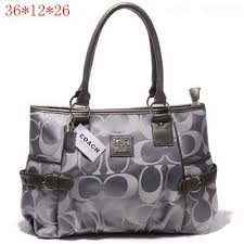 Coach Madison Signature Medium Tote Grey  Coach-0740  -  55.43   Coach  Outlet Canada Online