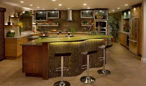 led strip lights under cabinet kitchen eclectic with aluminum trim amber glass vetrazzo countertops and