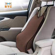 Byc Coffee Car Back Cushion Slowly Recovery Memory Foam Back